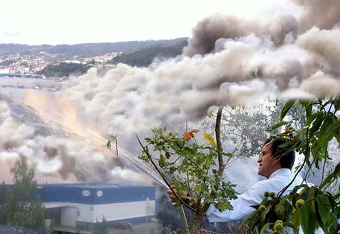 A eucaliptización mata: os lumes máis perigosos inícianse nos despachos con Feijoo