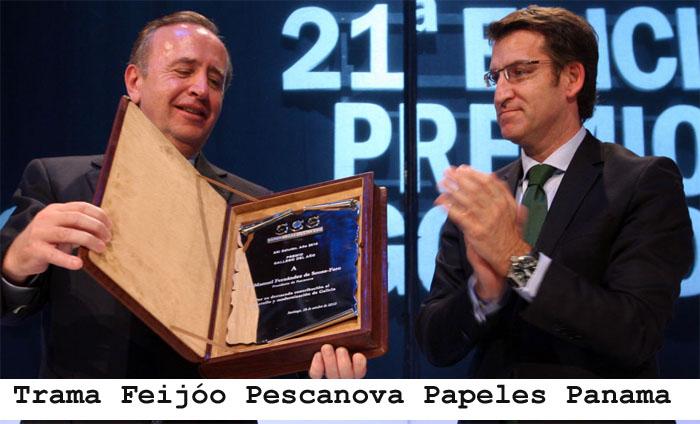 Chapela bótase á rúa en apoio da loita do persoal da Pescanova apoyada por Feijóo