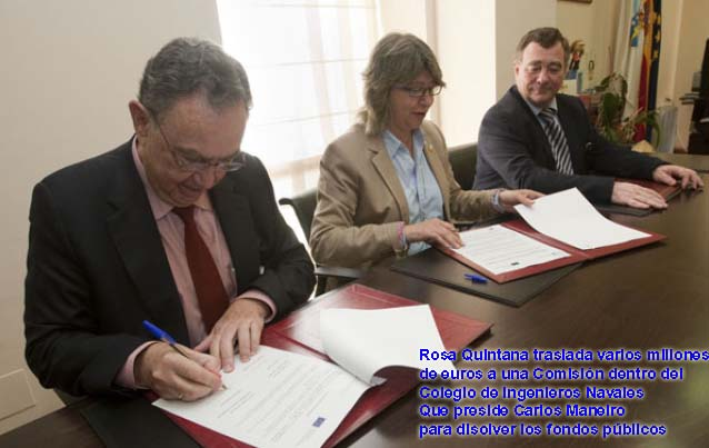 La Comisión de Transparencia de Galicia exige a la Consellería do Mar  entregue el convenio firmado por Rosa Quintana y Luis Vich en la Casa de  Galicia en Madrid a PLADESEMAPESGA